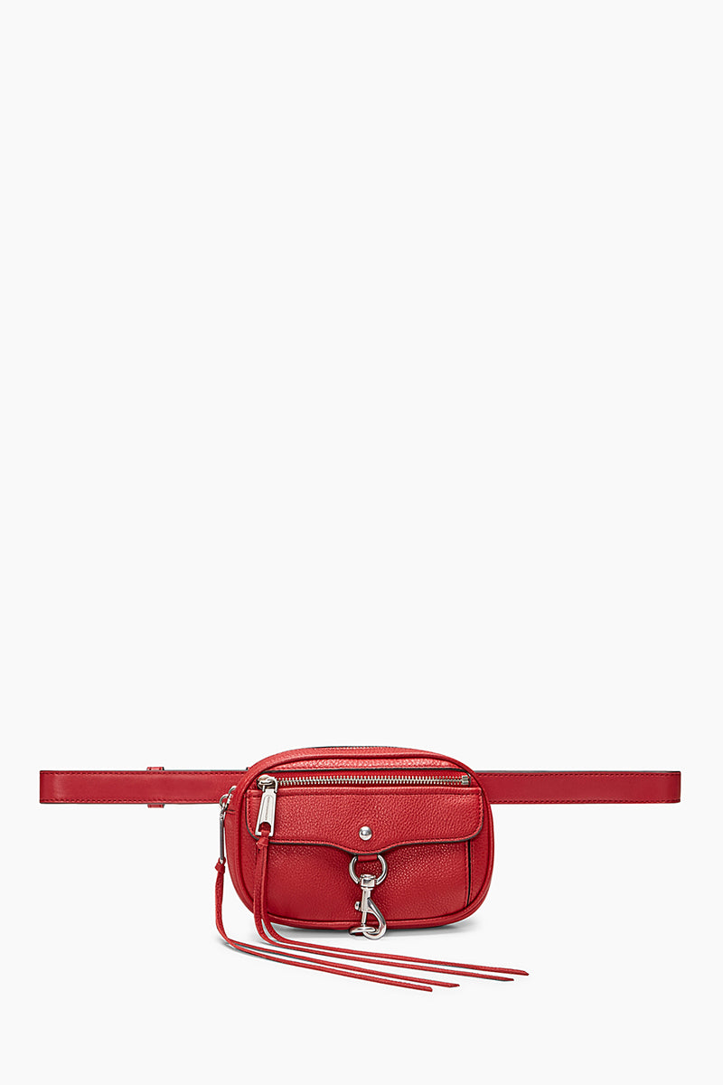 Blythe Convertible Leather Belt Bag, Scarlet