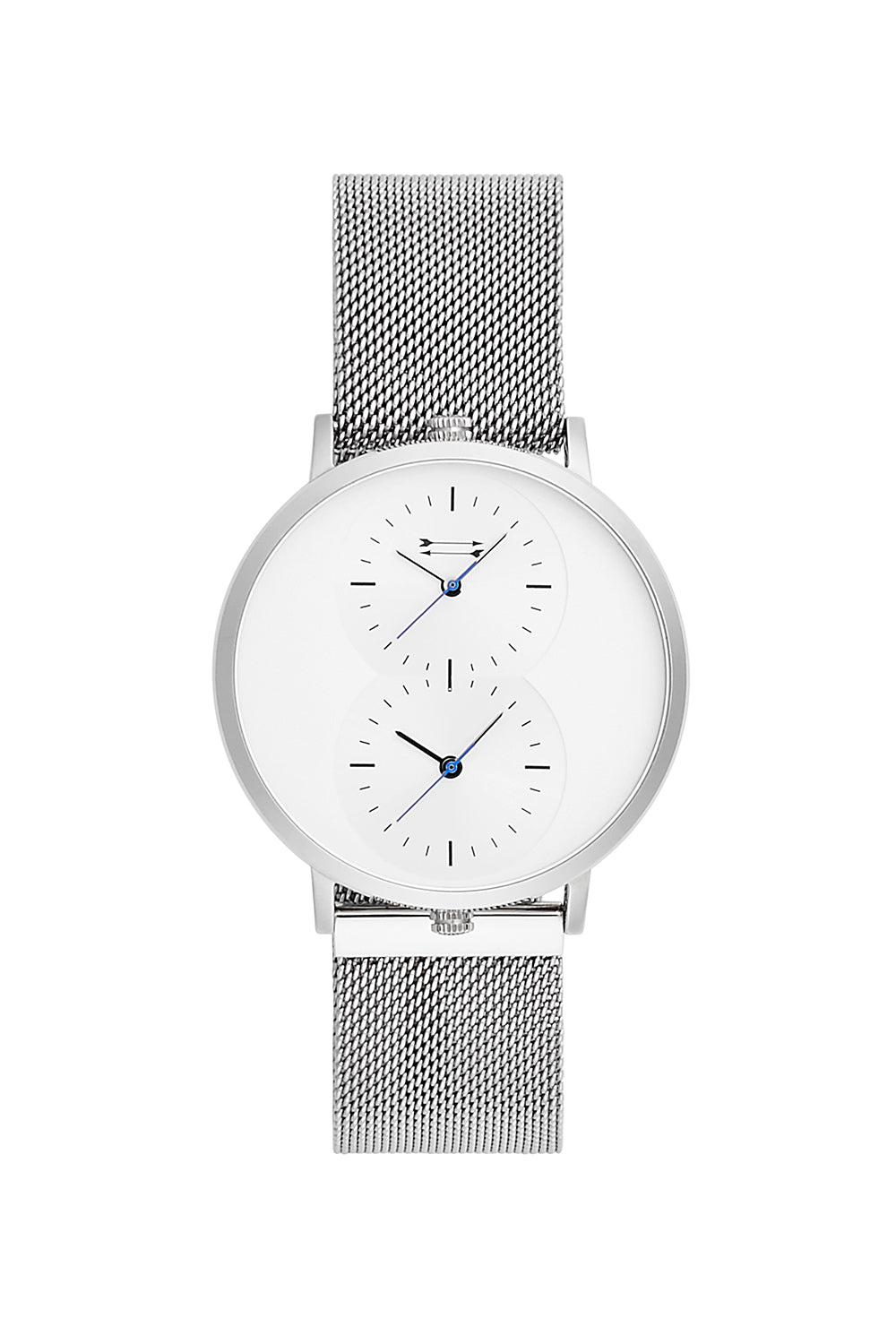 Griffith Silver Tone Mesh Bracelet Watch, 43MM