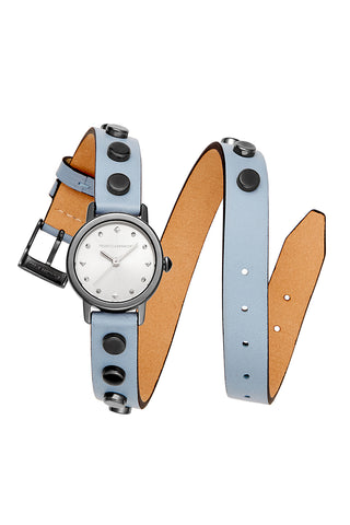 Watches  bffl grey ip case with dusty blue studded double wrap strap and grey ip sunray dial a 2200146 large