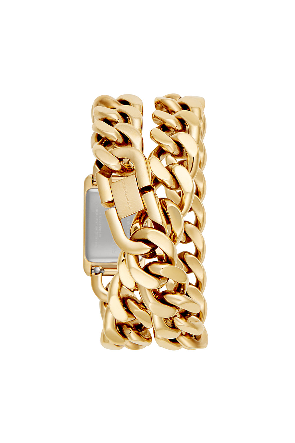 Moment Gold Tone Chain Bracelet Watch, 19x30MM