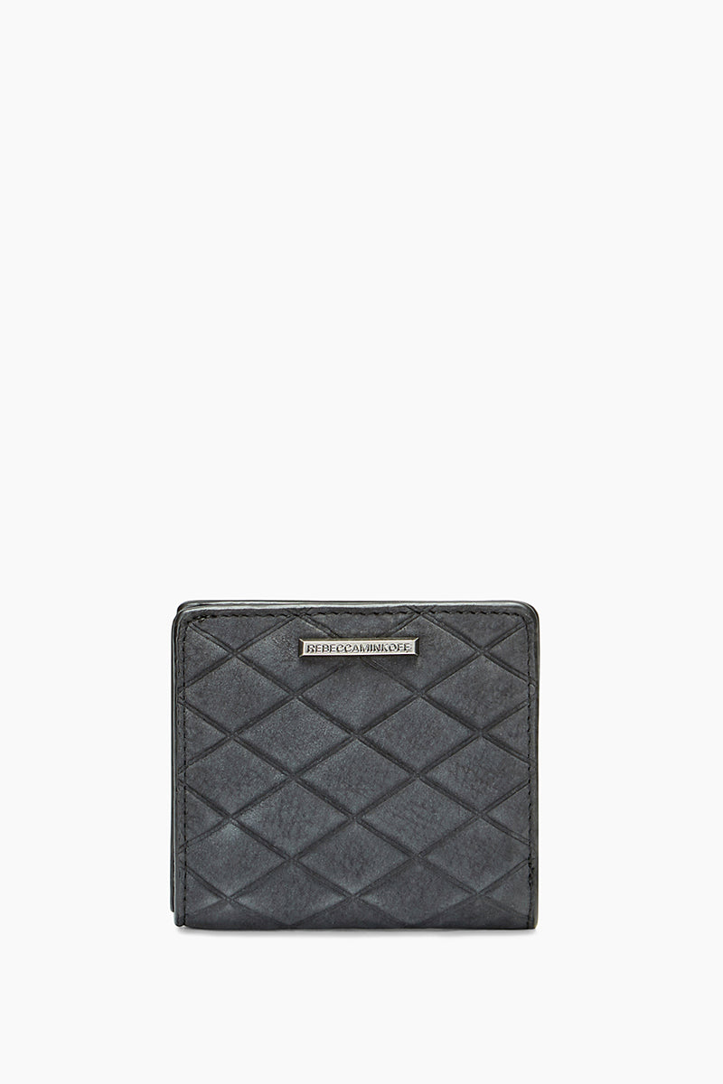 Embossed Nubuck Snap Wallet