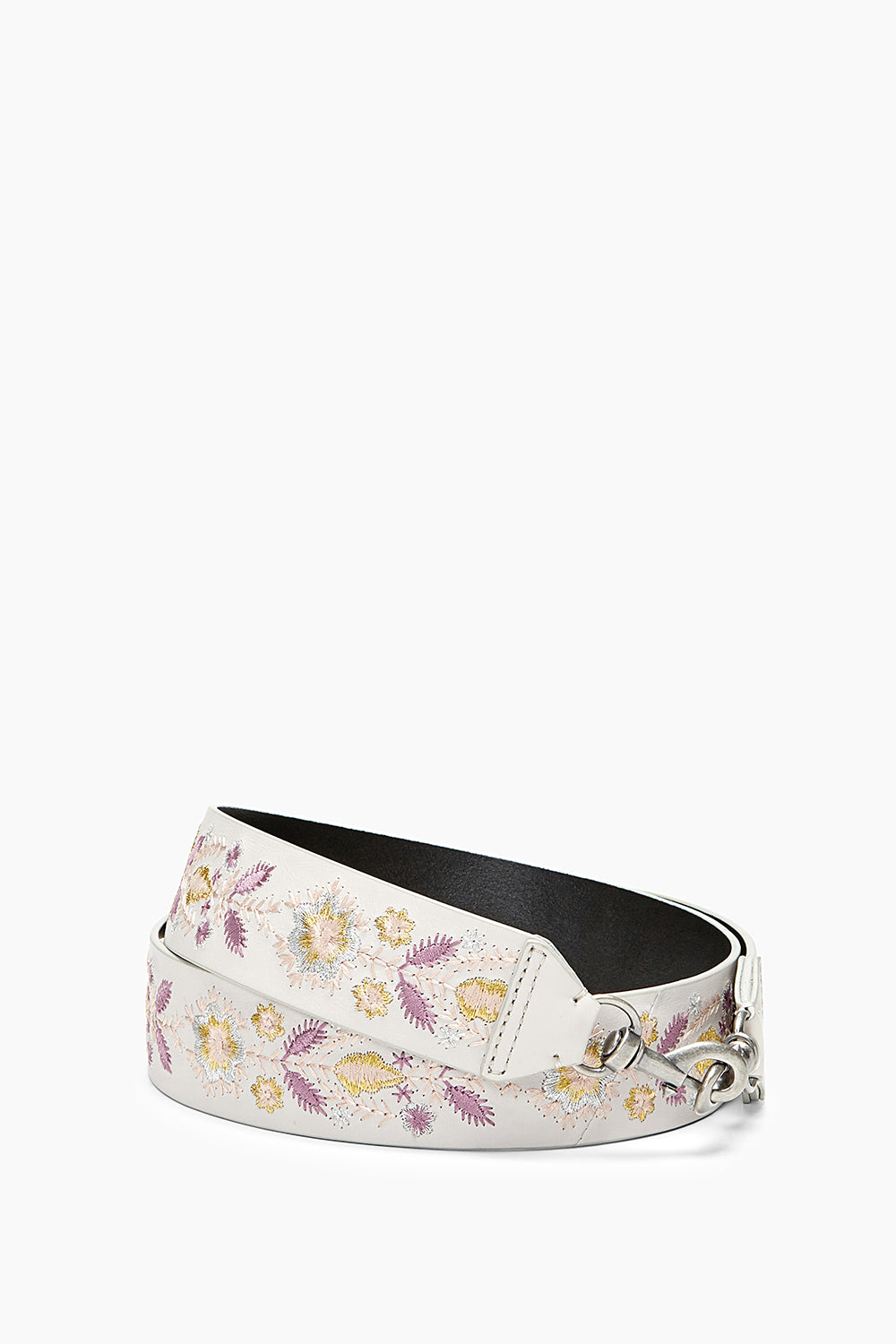 Metallic Embroidery Floral Guitar Strap