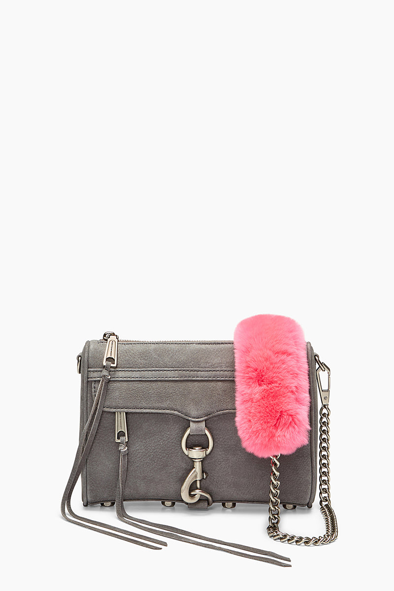 Fur Crossbody Strap with Chain