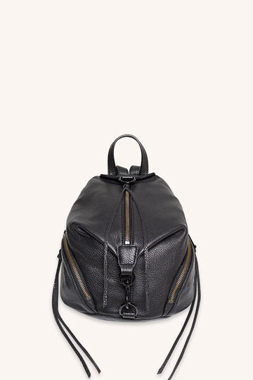 레베카 밍코프 Rebecca Minkoff Medium Julian Backpack,BLACK