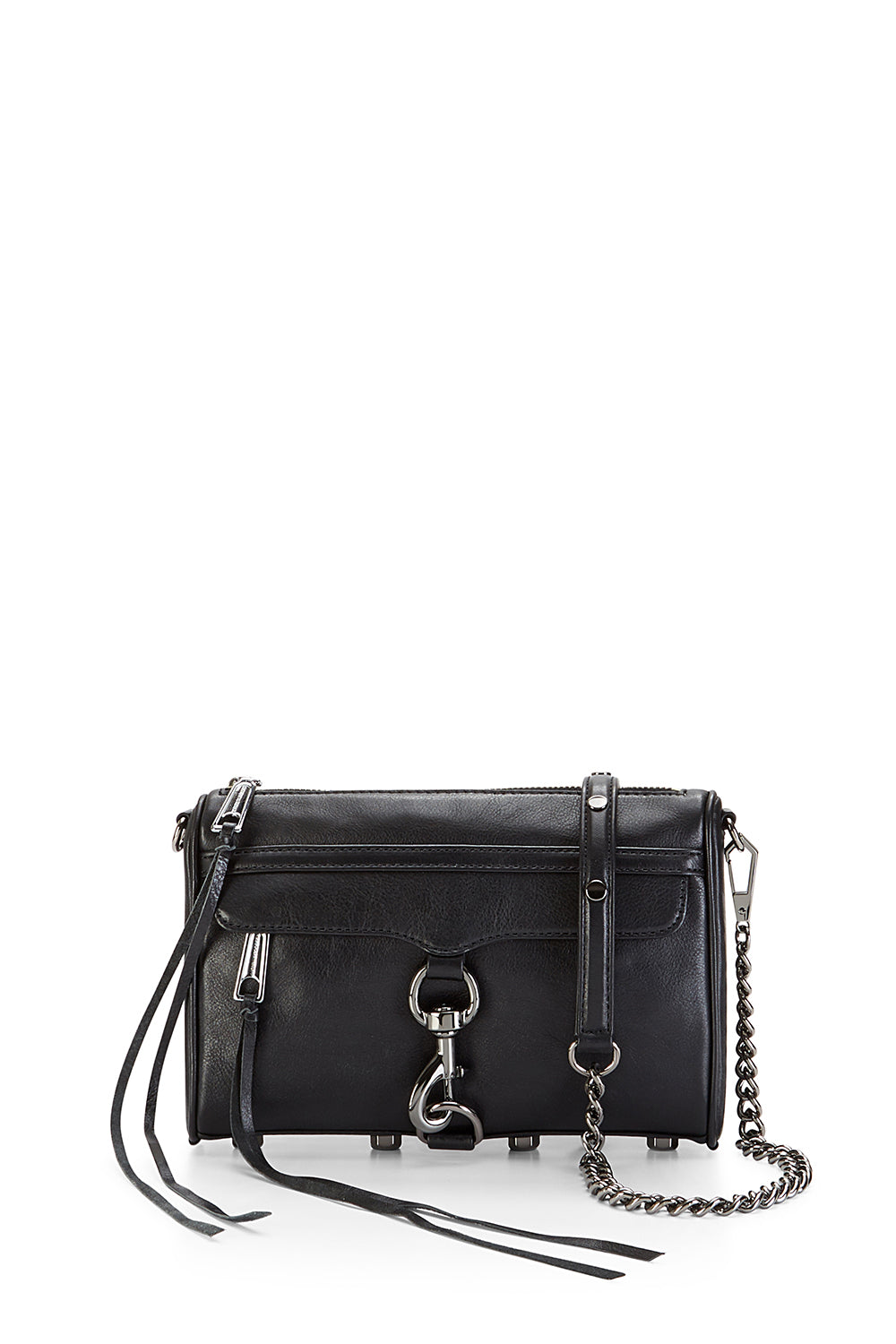 Black Gunmetal Mini M.A.C. Crossbody Bag   Rebecca Minkoff 177a8d9045