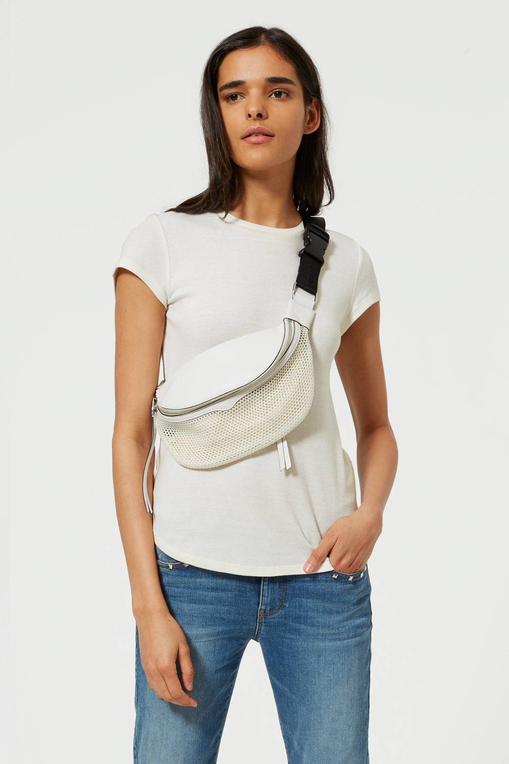 01ade3b17ae2 Bianco White Bree Crossbody Belt Bag | Rebecca Minkoff