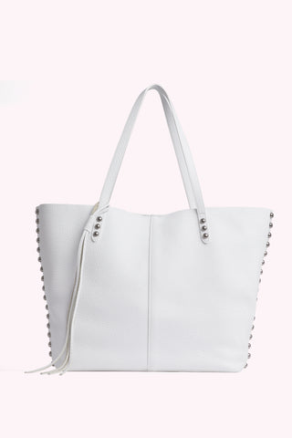 Medium Unlined Tote with Dome Studs