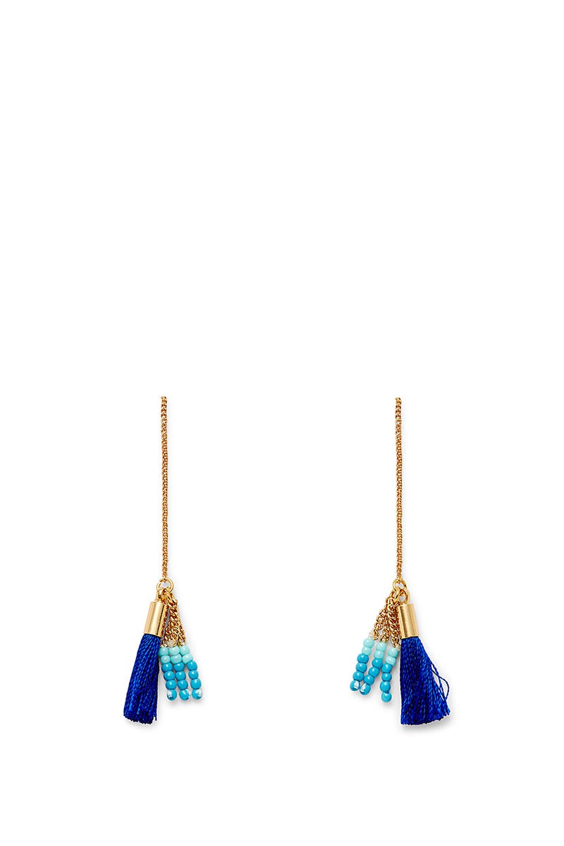 Threader Earring With Tassels