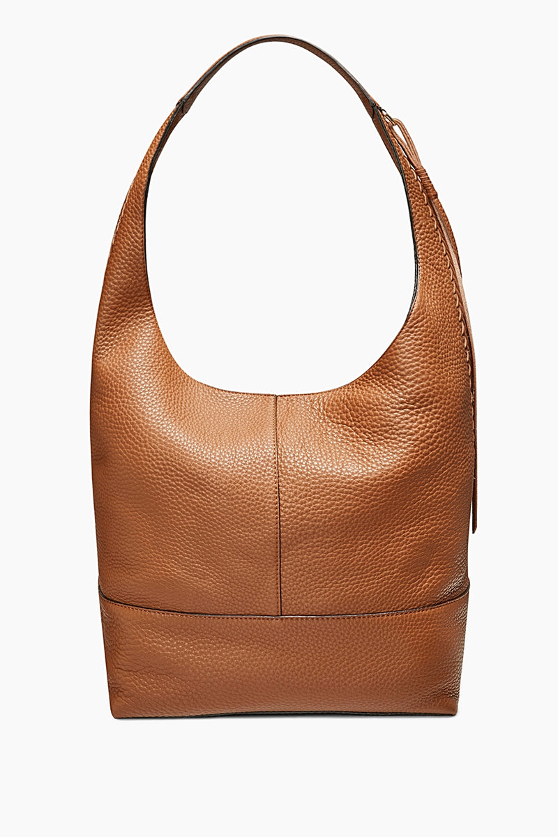 Unlined Slouchy Hobo With Whipstitch