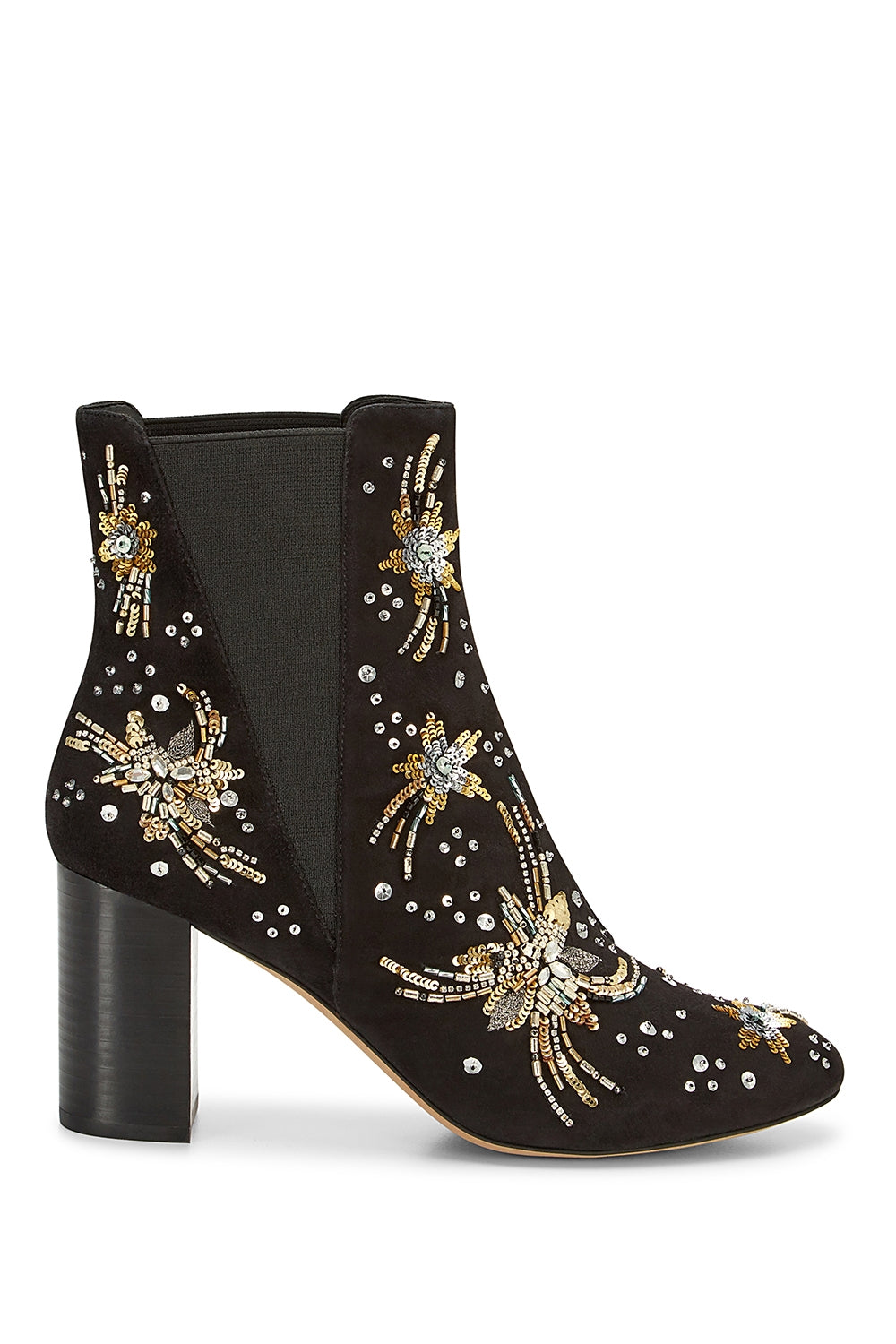 Serena Embroidery Bootie in Black