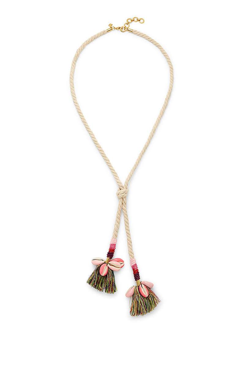 Lola Rope Lariat Necklace With Tassels