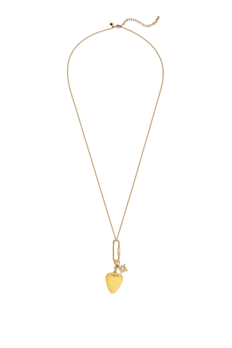 Rebecca minkoff guitar pick pendant necklace gold modesens rebecca minkoff guitar pick pendant necklace gold aloadofball Image collections