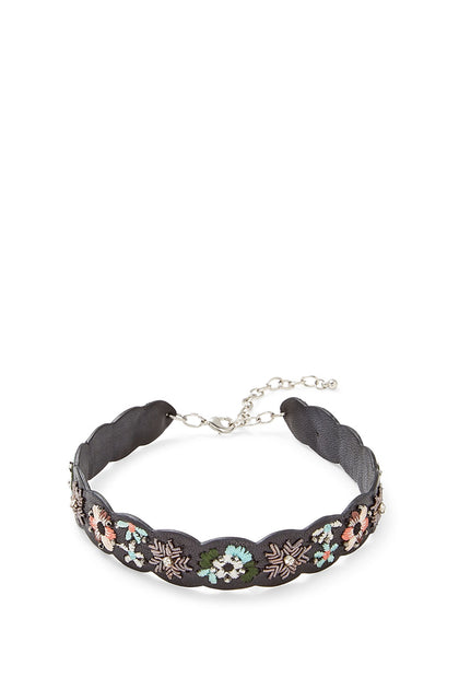 Floral Embroidery Guitar Strap Choker