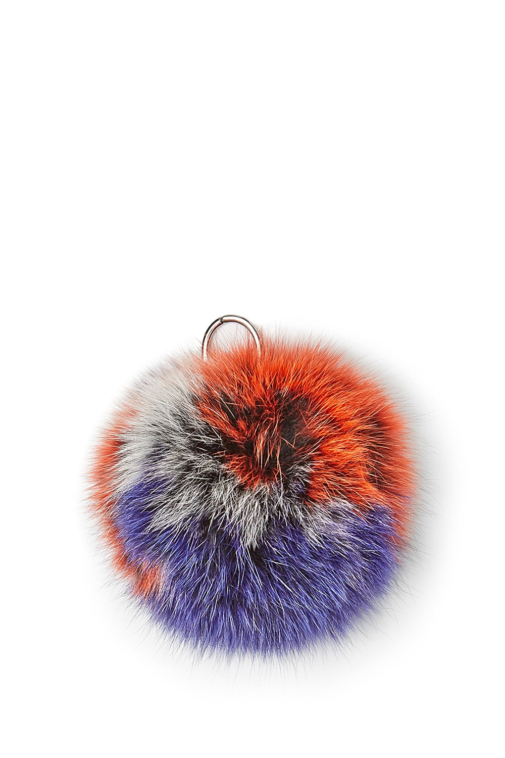 Striped Fur Pom Pom
