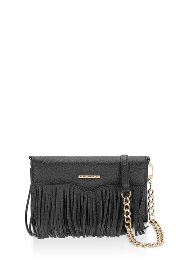 Fringe Leather Tech Crossbody