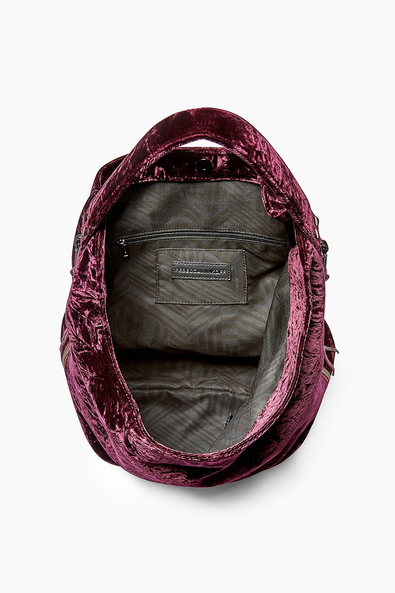 Velvet Bryn Double Zip Hobo
