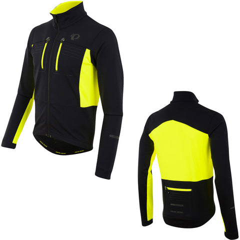 Men's, Elite Escape Softshell Jacket, Black/Screaming Yellow - Size xl