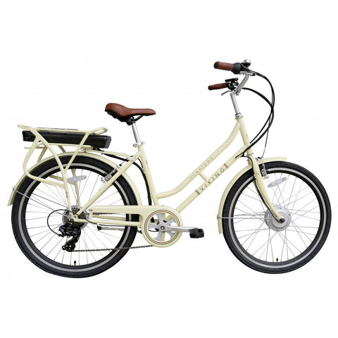 "Viking Downtown 36 Cream, 26"" 6 Speed E-Bike"