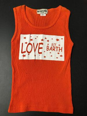 ORANGE ST.BARTH FITTED TANK TOP