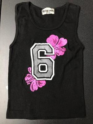 BLACK #6 FITTED TANK TOP