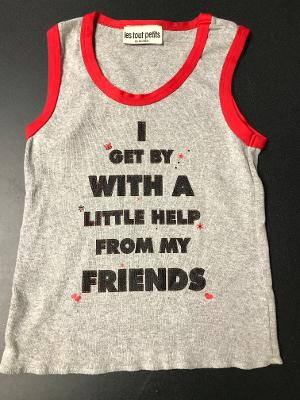 HEATHER/RED FRIENDS TANK TOP