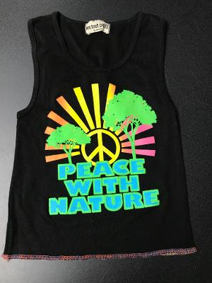 BLACK PEACE NATURE TANK TOP