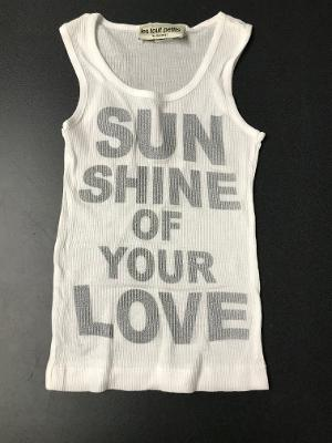 WHITE SUNSHINE FITTED  TANK TOP