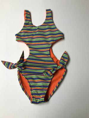 MULTI NEON STRIPE MONOKINI/TIES