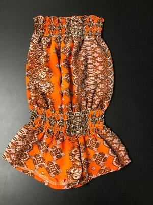 SMOCKED ROMPER TANGERINE DREAM