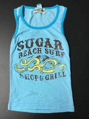 AQUA SUGAR STRIPED FITTED  TANK TOP