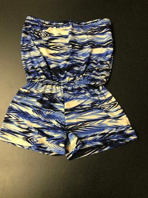 BEACH ROMPER BLUE ARROWS