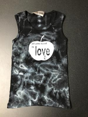 BLACK TD LOVE FITTED TANK TOP