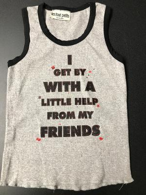 HEATHER/ BLACK FRIENDS TANK TOP