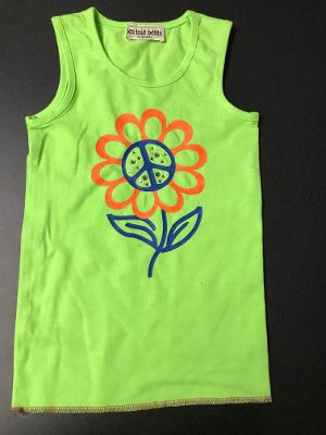 LIME PEACE FLOWER STONES TANK TOP
