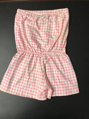 BEACH ROMPER PINK GINGHAM