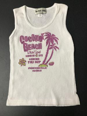 WHITE COCONUT BEACH FITTED TANK TOP