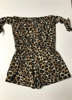 BEACH ROMPER LEOPARD TIES