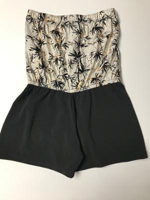BEACH ROMPER EVEING PALM/BLACK