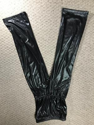 STRAPLESS JUMPSUIT COAL SHIMMER