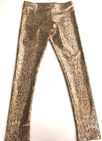 Copper Snakeskin Legging