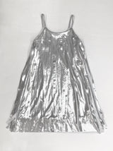 Silver Laser Cut Fringe Dress