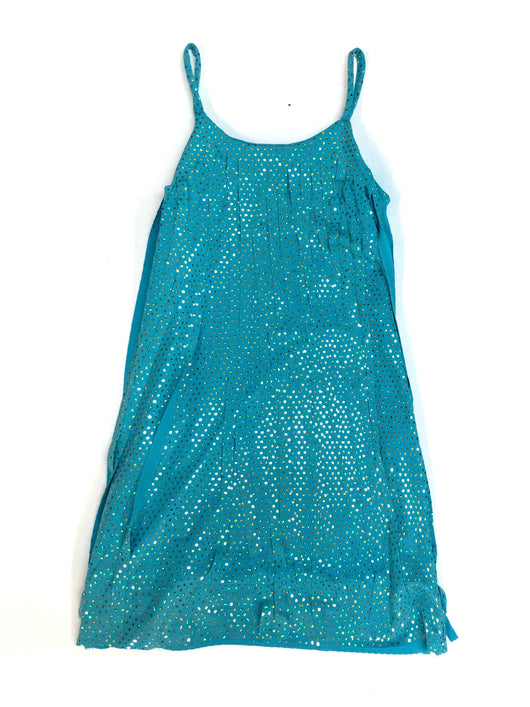 Turquoise Twinkle Cut Fringe Dress