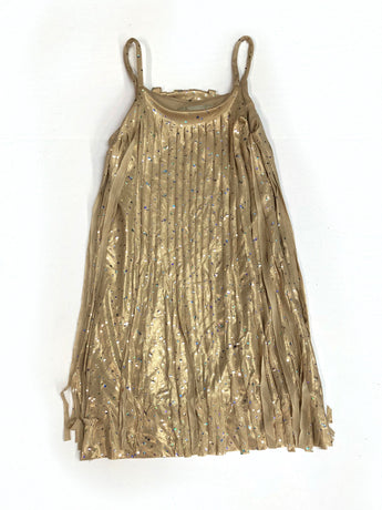 Solid Gold Sparkle Cut Fringe Dress