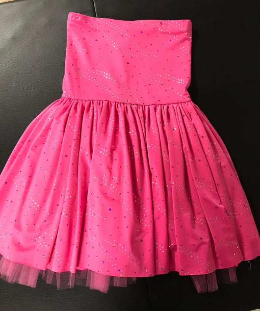 Pink Sparkle Sequin Dot Party Dress