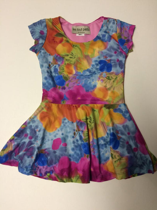 Monet Garden Short Sleeve Skater Dress