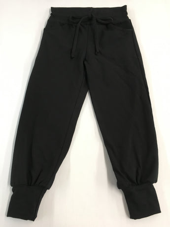 Track pocket black  cotton lycra