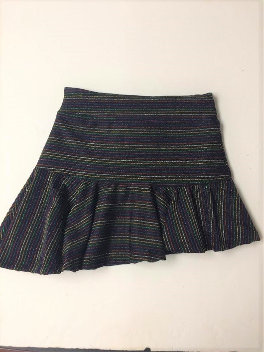 METALLIC MULTI STRIP ASSYM SKIRT