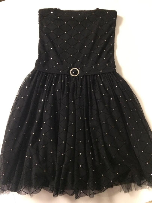 Black Silver Diamond Party Dress
