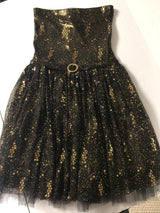 Black Gold Party Dress