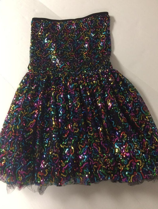 Fireworks Multi Sequins Party Dress